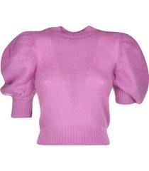 wandering wool knit cropped top
