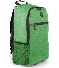 bolso maleta morral tokio con salida de audifonos bolsillos - verde claro