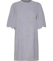 emmaline kort klänning grå mbym