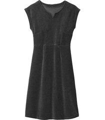 velours jurk, grafiet 44