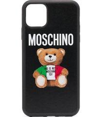 moschino teddy print iphone 11 pro max case - black
