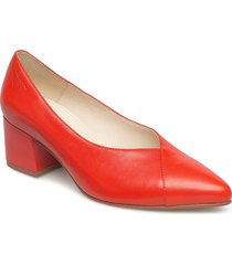 mya shoes heels pumps classic röd vagabond