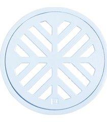 grelha redonda em alumínio elegance 10cm branca