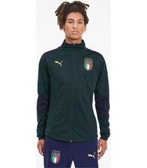 italia training jacket voor heren, blauw, maat s | puma