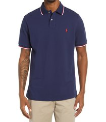 polo ralph lauren solid cotton polo shirt, size large in navy at nordstrom