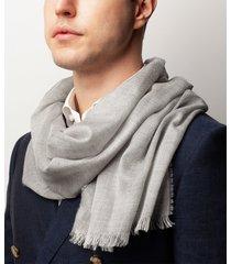 sciarpa da uomo, maalbi, seta cashmere grigio, quattro stagioni | lanieri
