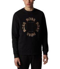boss men's salbo circle double-faced sweatshirt