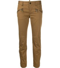 dsquared2 low rise skinny trousers - brown