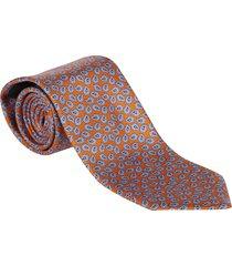 ermenegildo zegna red and blue silk tie