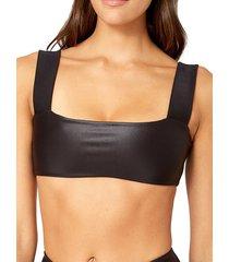 weworewhat women's bandeau active bra - black print - size l