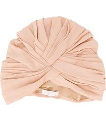 fabiana filippi pleated turban hat - pink