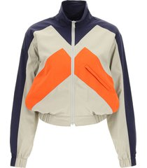 kenzo kenzo sport little x color block windbreaker jacket