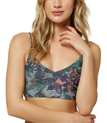 o'neill juniors' sandrine printed bralette bikini top women's swimsuit