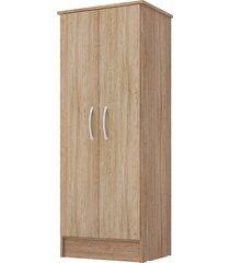 armário multiuso 2 portas viena nogal/vanilla touch demobile
