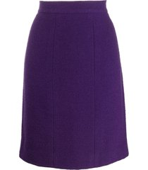 chanel pre-owned 1990's straight skirt - purple
