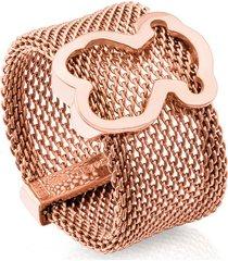anillo mesh rosa tous 613105571 - superbrands