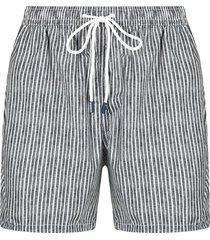fedeli vertical stripe-print swim shorts - grey