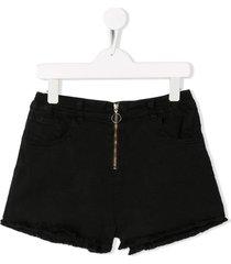 andorine zipped shorts - black