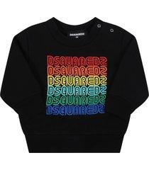 dsquared2 black sweatshirt for babykids with logos