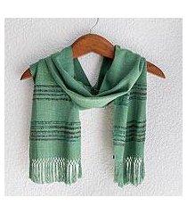 rayon scarf, 'mystic maya meadows' (guatemala)