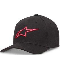 gorro ageless curve negro/rojo alpinestars