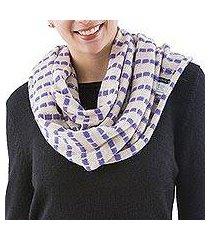 alpaca blend infinity scarf, 'parallel beige' (peru)