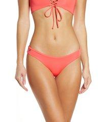 women's maaji mango sublime reversible bikini bottoms, size x-large - pink