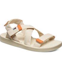 tommy surplus flat sandal shoes summer shoes flat sandals creme tommy hilfiger