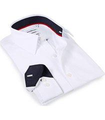 levinas men's tailored-fit dress shirt - white - size 14.5