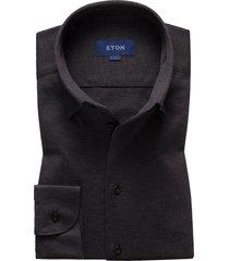 men's eton soft casual line slim fit shirt, size x-large - grey