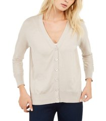 weekend max mara v-neck button-front cardigan