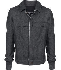 cedric jacquemyn woven collared jacket - black