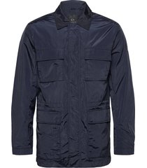armani exchange caban coat dun jack blauw armani exchange