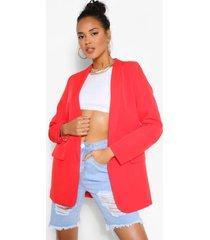 tailored blazer, red