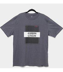 camiseta all free urban citizen plus size masculina