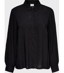 blusa jacqueline de yong negro - calce holgado