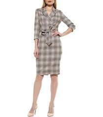 plaid tie-waist dress