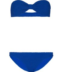 hunza g jean bandeau bikini - blue