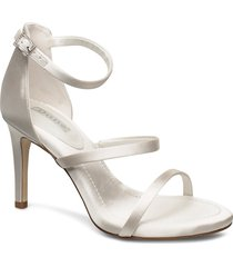 memory sandal med klack vit dune london