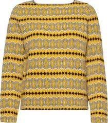 celeste stickad tröja gul jumperfabriken