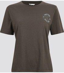 t-shirt i mjuk ekologisk bomull - mörkgrå