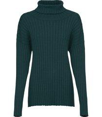 maglione oversize a coste (petrolio) - bodyflirt