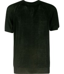 laneus ribbed knit t-shirt