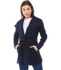 casaco queens paris amarração azul-marinho - kanui