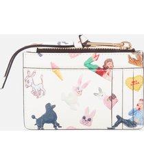 marc jacobs women's top zip multi wallet - multi