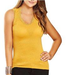 blusa hadid amarillo  para mujer croydon