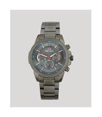 relógio cronógrafo philiph london masculino - pl80089613m preto