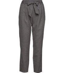 slfbio mw cropped wool pant b byxa med raka ben grå selected femme