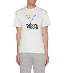 triangle fox head graphic t-shirt