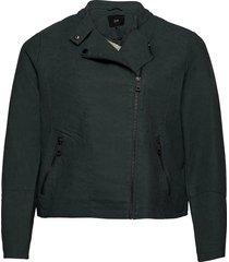 faux suede jacket plus zipper collar sommarjacka tunn jacka grön zizzi
